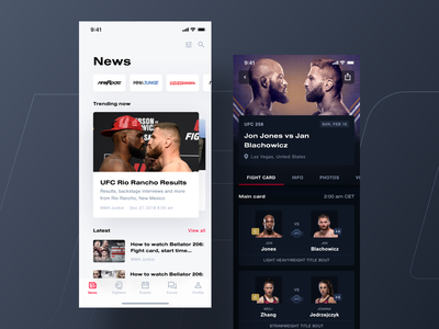 Tapology mobile app 03 tapology dark white theme light ufc fight mma mobile app