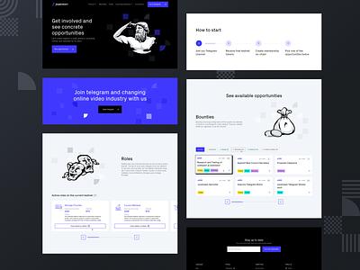 Joystream | Start earning stream joy branding pattern platform video joystream antic vector illustration