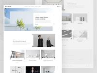 minimum blog homepage
