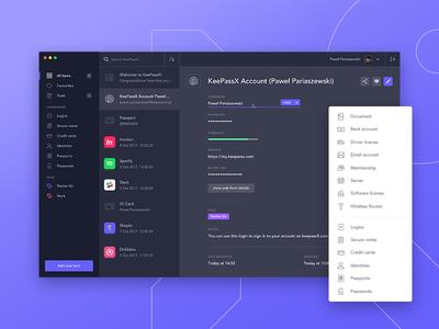 KeepassX redesign concept