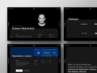 frontend developer portfolio ux ui theme dark frontend portfolio