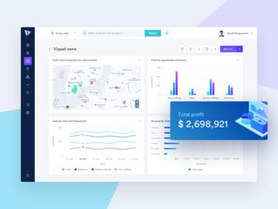 AI-Powered Analytics Platform ux ui interface design platform big data dashboard charts analytics
