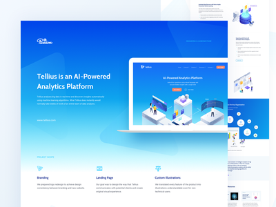 Tellius | behance case study analysis illustration vector isometric gradients big data