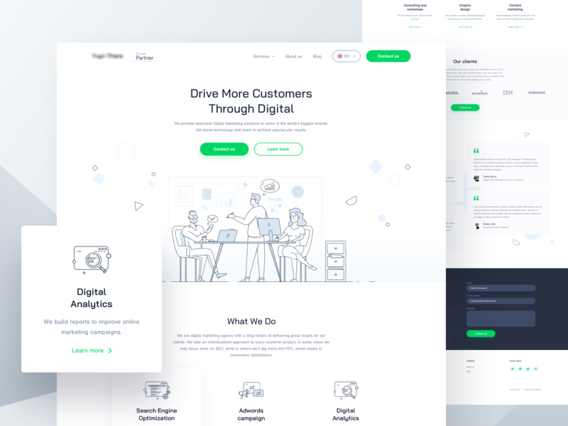 SEO agency | Landing page