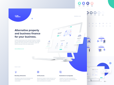 Cashbase | Behance case study dots gradients vector illustration landing  page cashbase lender broker borrower ui outline