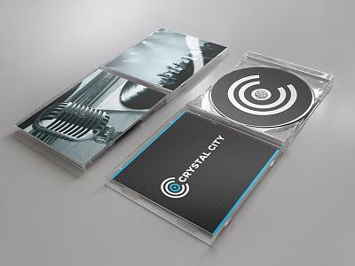 Media Company Identity logo music audio recording production studio video c initials mockup play media