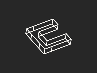 Carnes Construction Logo logo design mark c construction building grid square geometry schematic identity branding
