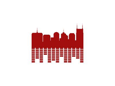 Music City Logo logo identity graphic icon music nashville city skyline buildings audio beats brand
