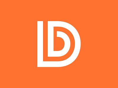 """""""Designbuddy"""" Monogram / Logo logo monogram identity branding orange initials d b lettering mark continuous"""