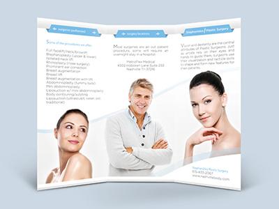 Brochure Design  brochure design promotional beauty plastic surgeon plastic surgery medical youth advertisement print mockup