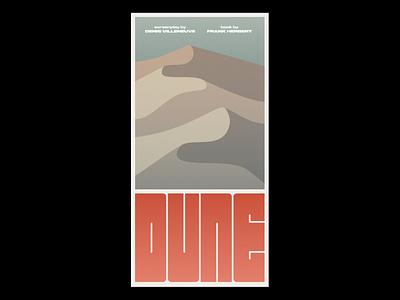 Dune movie illustration poster