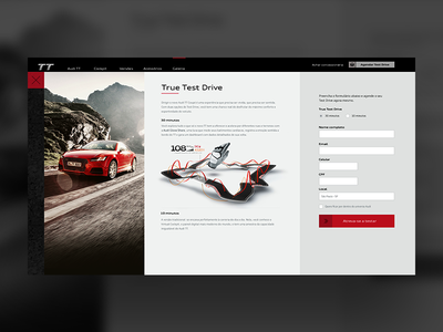 Audi Form drive test track ui interface audi car form