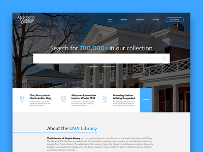 University of Virginia Library study interface ui library search