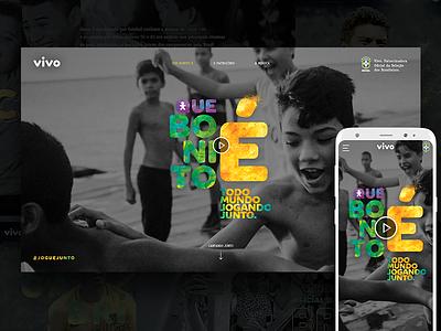Vivo World Cup Hotsite ui interface soccer footbal world cup copa hotsite vivo