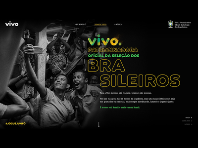 Vivo Jogue Junto telefonica vivo brazil hotsite web design ui interface soccer world cup