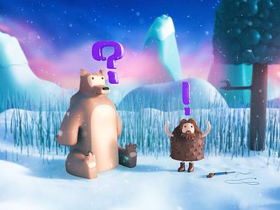 Renevant 3d renevant snow illustration