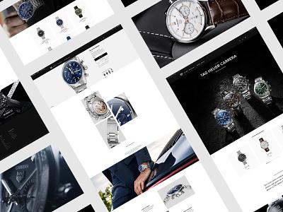 TAGHEUER.COM interface design ux webdesign digital site minimal clockwork watch corporate ui  ux uiux web webstie ui motion animation interface