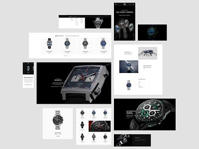 TAGHEUER.COM website design web design webdesign website web watch uxui ux uiux ui site motion minimal interface design interface digital corporate clockwork animation