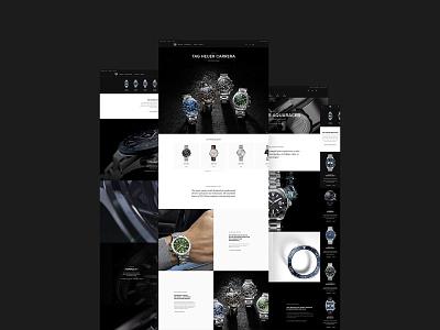 TAGHEUER.COM website design web design website web interface design digital navigation site design interface motion animation ui ux webdesign minimal