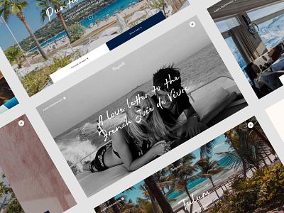 Bagatelle interface design ux animation webdesign restaurant minimal ui