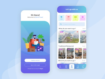 Travel App Design graphicdesign graphics adobexd xd design uidesign app design tourism tour app booking app travel tour booking