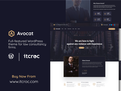 Avocat – Premium WordPress Theme For Lawyer And Law Firm itcroc lawwebsite wppremiumtheme wpthemedevelopment avocate laweyertheme wordpresstheme wptheme wordpress
