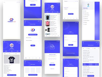 Yobray Mobile Application Design