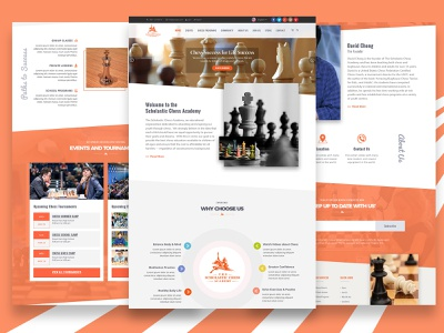 Scholastica Chess Academy Website Homepage Design landing page design landingpage website design web design webdesign website design ui uiuxdesigner ui ux design uiuxdesign graphic design uiux ui design adobe photoshop photoshop