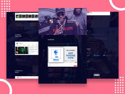 Hype Single Page Website Design.