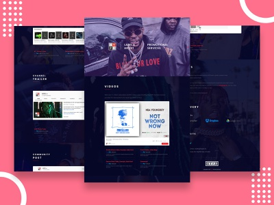Hype Single Page Website Design. music website web ui graphic design graphicdesign design adobexd xd website design web design webdesign web uiux designer uiuxdesigner uiux design uiuxdesign ui design uidesign ui  ux uiux ui