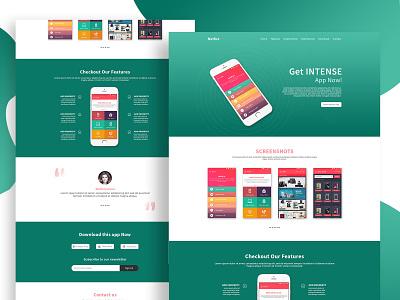 Mobile App Landing Page Design mobile app landing page photoshop adobe photoshop adobe xd landing page web design website web user interface ux design uxdesign ux  ui uxui ui design uidesign ui  ux uiux ux ui