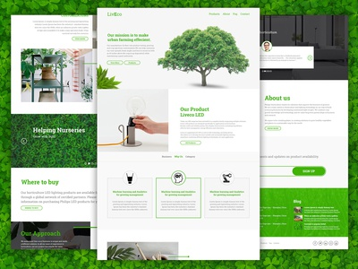 LivEco Landing Page Design