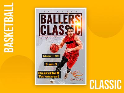 Ballers Classic photo manipulation baller basketball design pamphlet leaflets leaflet poster flyer template flyer artwork flyer design flyers flyer adobe photoshop graphic design photoshop