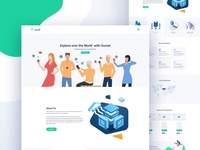 Ournet – Free One Page Internet Service Provider PSD