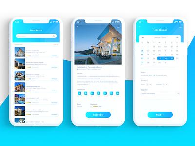 Bokify – Free Hotel Booking App UI Kit xd ui kit xd design mobile app design mobile app uiux ui design ui design