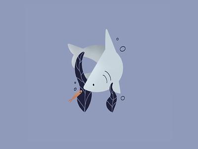 Baby Shark shark week fish ocean friends shark illustration