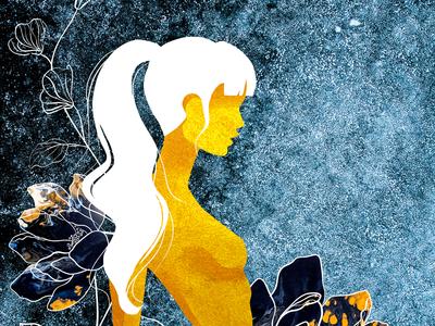 Poster gold girl