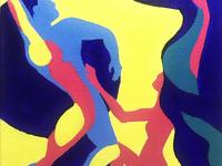 Titans. Acrylic painting