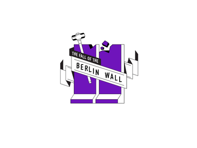 The fall of the Berlin wall Coat of Arms motiongraphics motion design logo banner coat of arms vector berlin illustraion animation