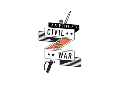 The American Civil War Coat of Arms civil war logo coat of arms banner vector illustration 2d animation