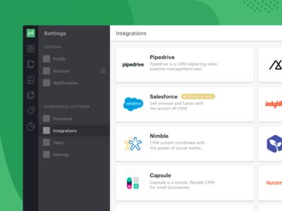 PandaDoc: Integration page