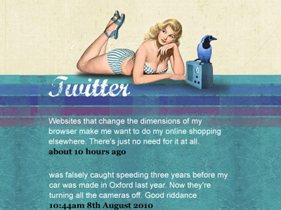 Latest tweets element in footer