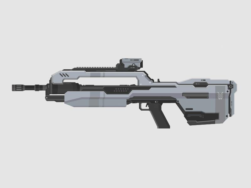 Halo Battle Rifle halo battle rifle vector illustration bungie 343 gun weapon scope video game