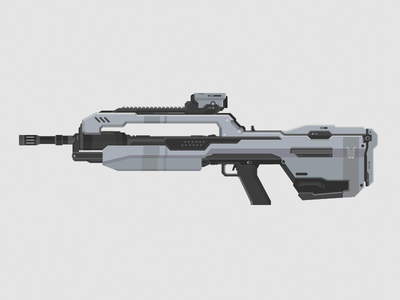 Halo Battle Rifle halo battle rifle vector illustration bungie 343 gun weapon scope video game