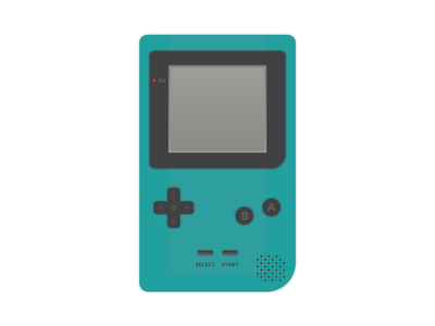 Gameboy flat icon color gameboy