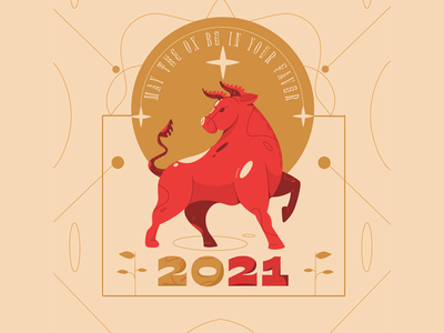 Happy New Year 2021 design vector illustration