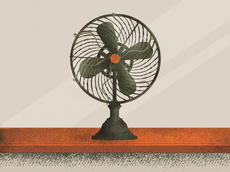 Stay Cool vector illustration retro vintage fan