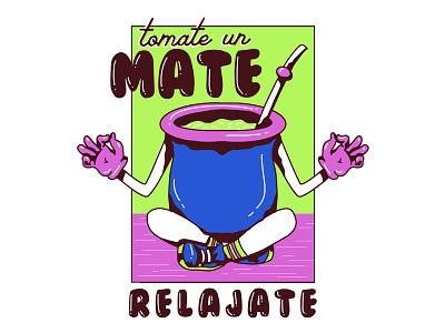 Mate relax drink argentina mate design vector illustration