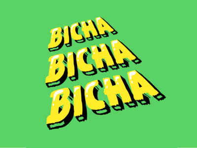 BICHA typeart vibora snake lettering typography type vector design illustration