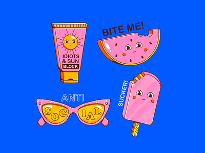 Summer watermelon ice cream summer icon vector design illustration